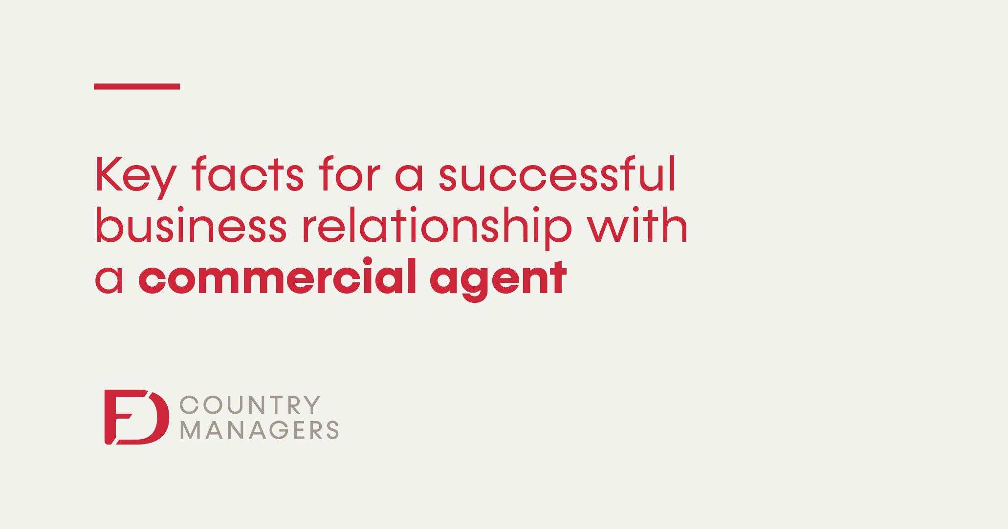 ¿Cómo tener una relación de éxito con un agente comercial?